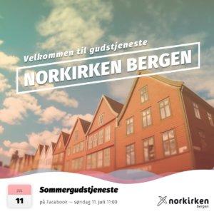 Gudstjeneste i Norkirken Bergen 11. juli 2021