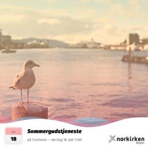 Gudstjeneste i Norkirken Bergen 18. juli 2021